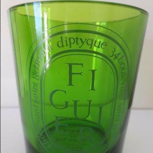 Diptyque Green Glass Jar